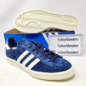 Adidas Campus 80s Blue Suede Soccer Navy White 8
